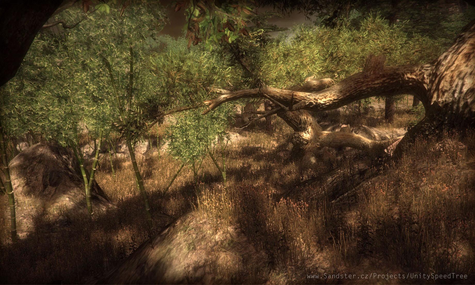 Replacing Unity trees with SpeedTree